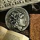 Брошь-монета `Лисимах.Александр Великий`