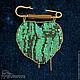 Броши ручной работы. Ярмарка Мастеров - ручная работа. Купить Брошь из бисера Малахитовое сердце. Handmade. Зеленый