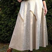 Одежда ручной работы. Ярмарка Мастеров - ручная работа Юбка льняная клиньевая. Handmade.