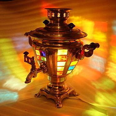 """Для дома и интерьера ручной работы. Ярмарка Мастеров - ручная работа """"Лампа-самовар"""". Handmade."""