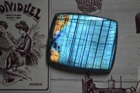 Для украшений ручной работы. Ярмарка Мастеров - ручная работа. Купить Лабрадорит спектролит. Кабошон 55 Х 46 Х 5. Handmade.