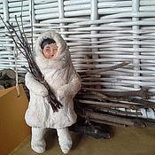 """Подарки к праздникам ручной работы. Ярмарка Мастеров - ручная работа Ватная  елочная игрушка """"Айгуль"""". Handmade."""