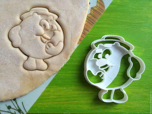 Кухня ручной работы. Ярмарка Мастеров - ручная работа. Купить Форма для печенья Смешарики Копатыч. Handmade. Разноцветный, формочка для печенья