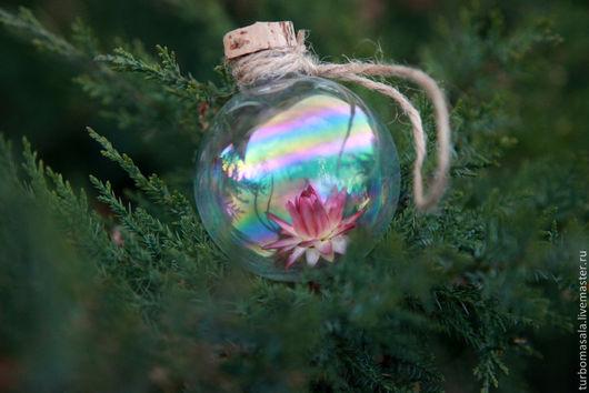 """Новый год 2017 ручной работы. Ярмарка Мастеров - ручная работа. Купить Ёлочный шар """"Всевидящий"""", уникальный подарок. Handmade. Голубой"""
