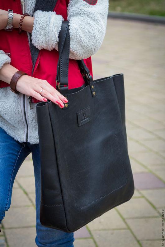 Женские сумки ручной работы. Ярмарка Мастеров - ручная работа. Купить сумка женская из натуральной кожи. Handmade. Черный