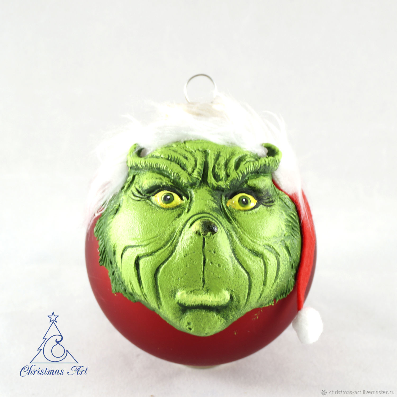 Christmas ball toy the Grinch stole Christmas, Christmas toys, Decoration, Moscow, Фото №1