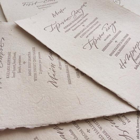 Иллюстрации ручной работы. Ярмарка Мастеров - ручная работа. Купить Бумага для высокой печати ручного литья. Handmade. Чёрно-белый