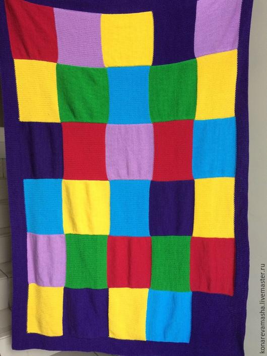 """Пледы и одеяла ручной работы. Ярмарка Мастеров - ручная работа. Купить Вязаный плед """"Радуга"""". Handmade. Разноцветный, одеяло детское"""