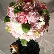 """Цветы и флористика ручной работы. Ярмарка Мастеров - ручная работа Топиарий """"Аромат Дамасской розы"""". Handmade."""