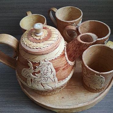 """Посуда ручной работы. Ярмарка Мастеров - ручная работа Сервиз """"Конь"""". Handmade."""