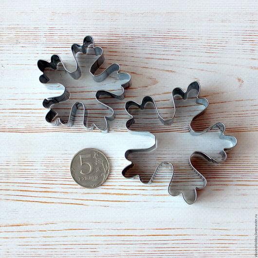 Другие виды рукоделия ручной работы. Ярмарка Мастеров - ручная работа. Купить Снежинка (пять концов), 7 см и 5,5 см. Резак, каттер, формочка. Handmade.