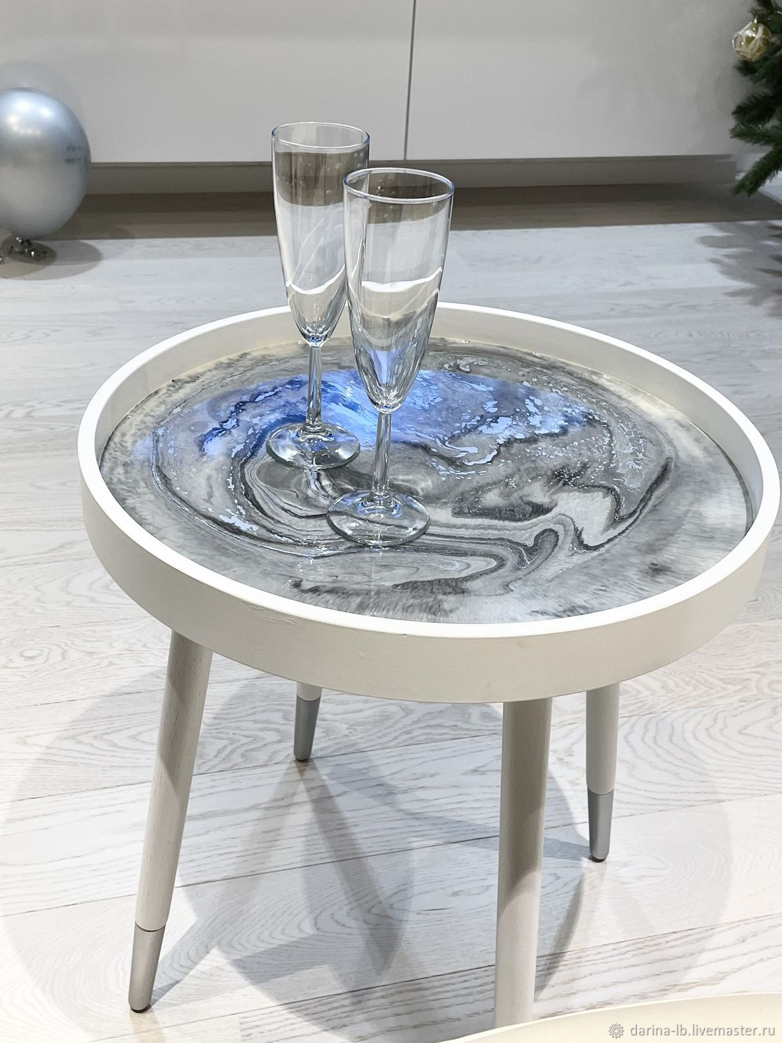 Round table made of epoxy resin, Tables, Moscow,  Фото №1