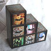 Для дома и интерьера ручной работы. Ярмарка Мастеров - ручная работа Мини-комод для украшений. Handmade.