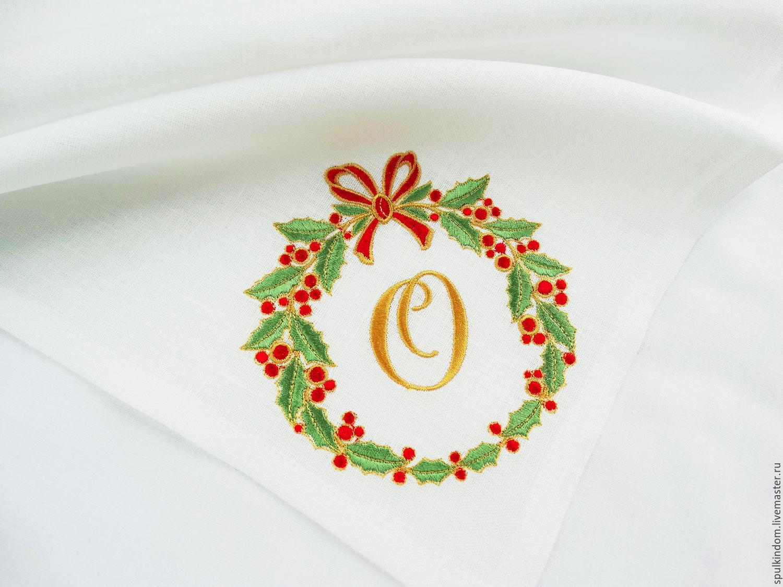 Новогодние венки вышивка новогодний венок