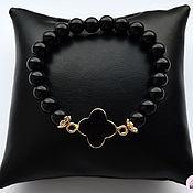 Украшения handmade. Livemaster - original item bracelet of black agate. Handmade.