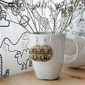 """Украшения ручной работы. Ярмарка Мастеров - ручная работа Серьги """"Шведский дом"""". Handmade."""