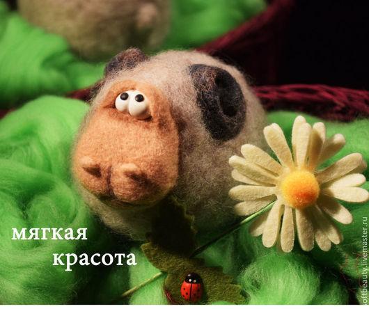 """Игрушки животные, ручной работы. Ярмарка Мастеров - ручная работа. Купить Войлочная валяная игрушка """"Баран Уилл"""". Handmade. овца"""