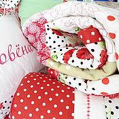 Для дома и интерьера ручной работы. Ярмарка Мастеров - ручная работа Лоскутный комплект для девочки Лоскутное одеяло. Handmade.