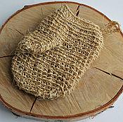 "Для дома и интерьера handmade. Livemaster - original item Мочалка-варежка из сизаля ""Сизалевая"".. Handmade."