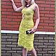 """Платья ручной работы. Платье """"Солнечная ракушка"""". VitaSmirnova_handwork. Интернет-магазин Ярмарка Мастеров. Однотонный, 100 % хлопок"""