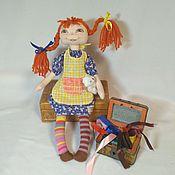Мягкие игрушки ручной работы. Ярмарка Мастеров - ручная работа Мягкие игрушки: Пэппи Длинный чулок. Handmade.