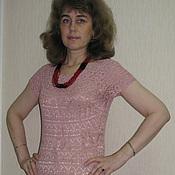 Одежда ручной работы. Ярмарка Мастеров - ручная работа Вязаное платье крючком Лилия. Handmade.