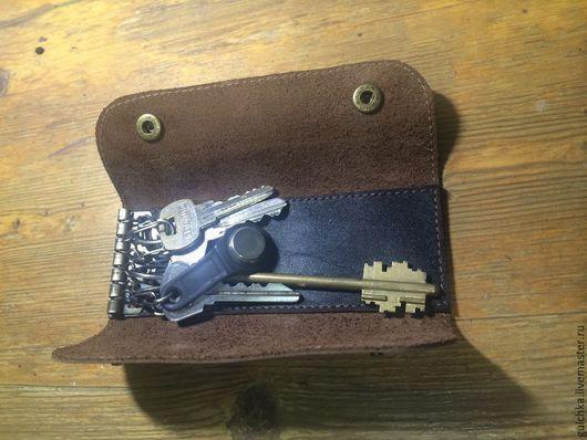 Ключницы ручной работы. Ярмарка Мастеров - ручная работа. Купить Ключница Model №2. Handmade. Коричневый, натуральная кожа