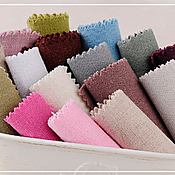 Материалы для творчества ручной работы. Ярмарка Мастеров - ручная работа Ткань лён однотонный 8 цветов. Handmade.