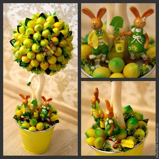 Детская ручной работы. Ярмарка Мастеров - ручная работа. Купить Лимонное дерево. Handmade. Желтый, топиарий, фрукты искусственные