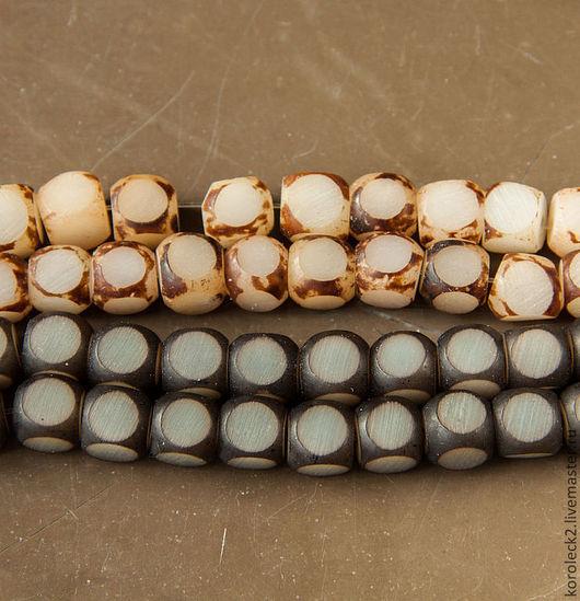 Для украшений ручной работы. Ярмарка Мастеров - ручная работа. Купить Бусины-кубики из семян пальмы Buri в ассортименте. Handmade.