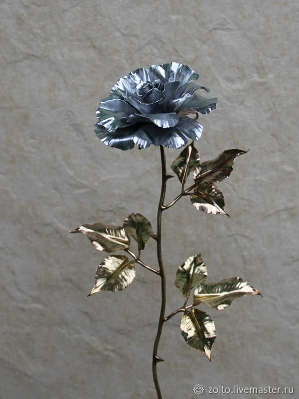 Жестяная Роза, Большая, Цветы, Москва,  Фото №1