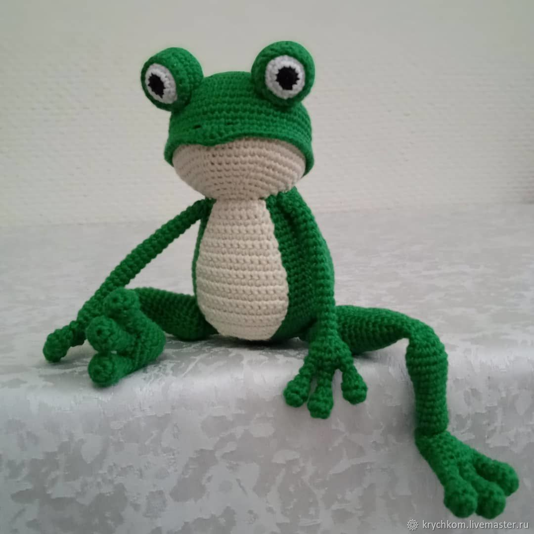 frog, Amigurumi dolls and toys, Kamyshin,  Фото №1
