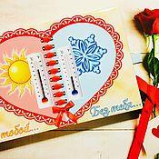 Подарки ручной работы. Ярмарка Мастеров - ручная работа Шокобокс «С тобой, без тебя». Handmade.