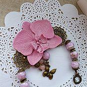 """Украшения ручной работы. Ярмарка Мастеров - ручная работа браслет """"Фея-орхидея"""". Handmade."""
