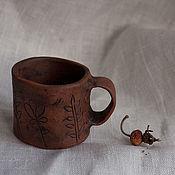 """Посуда ручной работы. Ярмарка Мастеров - ручная работа Кофейная чашка """"Полевые травы"""". Handmade."""