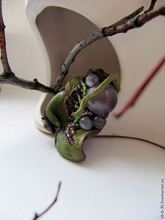 """Кольца ручной работы. Ярмарка Мастеров - ручная работа. Купить Кольцо """"Подарок знакомого эльфа"""". Handmade. Кольцо из кожи"""