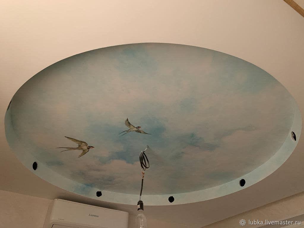 Роспись потолка Небо с ласточками, Декор, Москва,  Фото №1