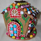 Подарки к праздникам ручной работы. Ярмарка Мастеров - ручная работа Пряничный домик. Handmade.