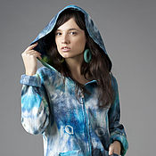 Одежда ручной работы. Ярмарка Мастеров - ручная работа Куртка из шелка и шерсти ручного окрашивания. Handmade.