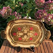 handmade. Livemaster - original item Tray wooden Pattern, handmade, Florence, Italy. Handmade.