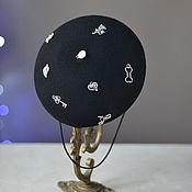 Аксессуары ручной работы. Ярмарка Мастеров - ручная работа чёрная шляпка мини берет. Handmade.