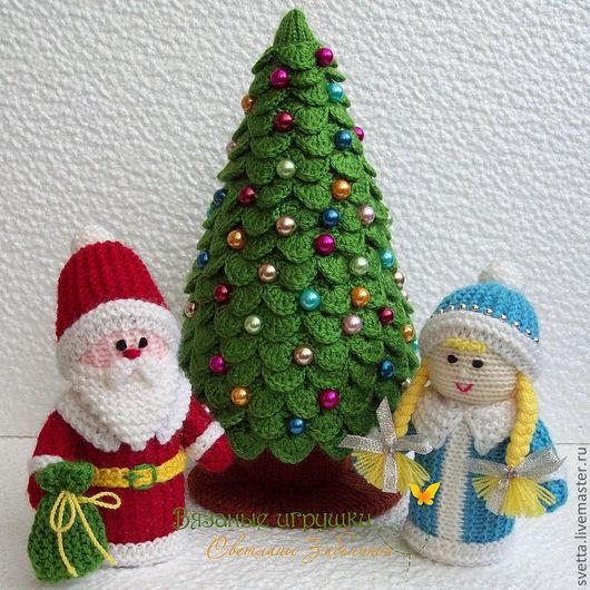 Новый год 2017 ручной работы. Ярмарка Мастеров - ручная работа. Купить Новогодний набор интерьерных вязаных игрушек. Handmade. Игрушки