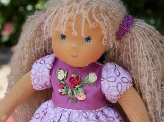 """Вальдорфская игрушка ручной работы. Ярмарка Мастеров - ручная работа. Купить вальдорфская кукла """"Розочка кудрявая"""" - 36см. Handmade."""