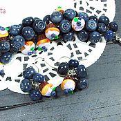 """Украшения ручной работы. Ярмарка Мастеров - ручная работа Черничный браслет """"Черничный кейк"""" из полимерной глины. Handmade."""