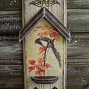 """Для дома и интерьера ручной работы. Ярмарка Мастеров - ручная работа """"Райская птица"""". Вешалка-ключница. Handmade."""