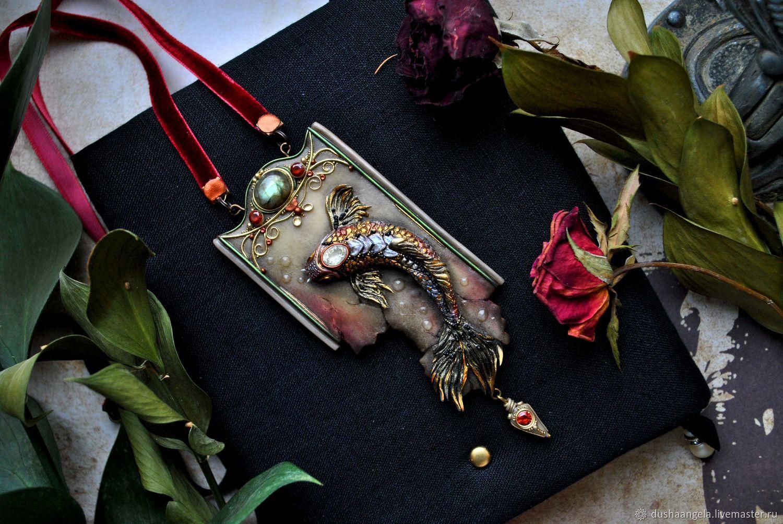 """кулон """"Aureus cyprinus"""" скульптурная миниатюра, Подвески, Владимир, Фото №1"""