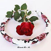 Украшения handmade. Livemaster - original item Harness beaded Roses, decoration, necklace. Handmade.