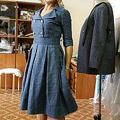 Одежда ручной работы. Ярмарка Мастеров - ручная работа 080:Женское платье, платье из костюмной ткани, офисное платье. Handmade.