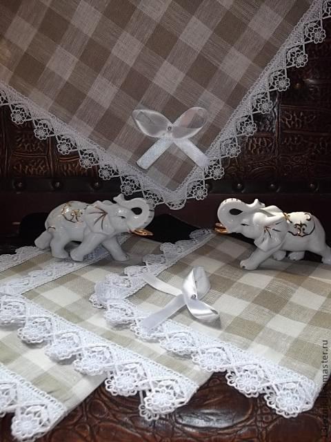 Текстиль, ковры ручной работы. Ярмарка Мастеров - ручная работа. Купить Салфетки льняные,в клетку.. Handmade. Бежевый, подарок женщине