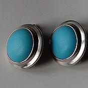 Винтаж handmade. Livemaster - original item Silver and turquoise. Handmade.
